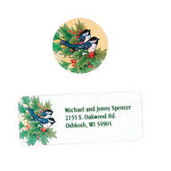 Winter Chickadee Address Labels And Seals Set