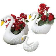 Swan Planters Set of 3