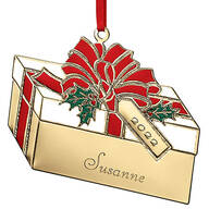 Personalized Brass Present Ornament