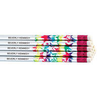 Round Holographic Star Pencils Set/12