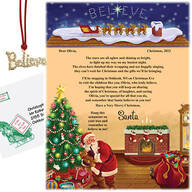 Personalized I believe Santa Letter and Ornament