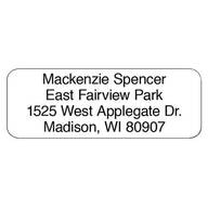 Personalized Block Roll Address Labels, Set of 200