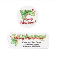 Merry Christmas Labels & Envelope Seals Set