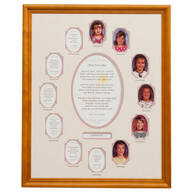 School Years Collage Frame - Pink