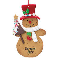 Personalized Snowman Cookie Ornament