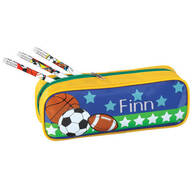 Personalized Sports Pencil Case and Pencil Set
