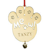 Personalized Meow Brass Ornament