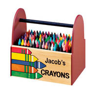 Personalized Wooden Crayon Caddy