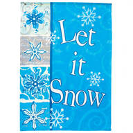 Let It Snow Winter Garden Flag