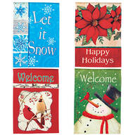 Set of 4 Holiday Flags