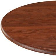 Wood Grain Vinyl Elasticized Table Cover