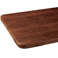 Wood Grain Elasticized Tablecover