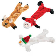 Stuffing Free Christmas Dog Toys, Set of 3