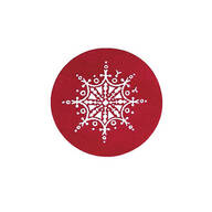 Red Snowflake Seals Set of 250