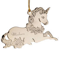 Personalized Unicorn Metal Ornament