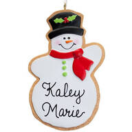 Personalized Snowman Christmas Cookie Ornament