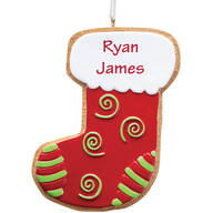 Personalized Stocking Christmas Cookie Ornament