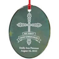 Personalized Glass Communion Ornament