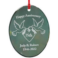 Personalized Glass Anniversary Ornament
