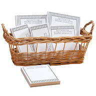 Personalized Vertical Stripes Business Basketful of Notepads