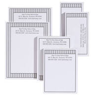 Personalized Vertical Stripes Business Notepads Refill Set of 6
