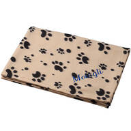 Personalized Paw Print Pet Blanket