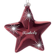 Personalized Birthstone Star Ornament