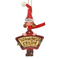 Personalized Mom's Favorite Youngest Child Ornament