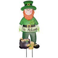 Personalized Leprechaun Lawn Stake by Fox River™ Creations