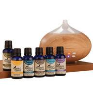 Healthful™ Naturals Starter Essential Oil Kit & 280 ml Diffuser