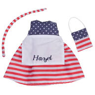Personalized Little Sister Patriotic Dress