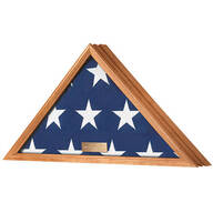 Personalized Veterans Flag Display Case  Honey