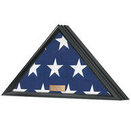 Personalized Veterans Flag Display Case, Black