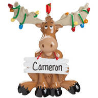 Personalized Moose Ornament