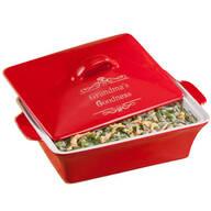 Personalized Red Lidded Rectangular Baking Dish