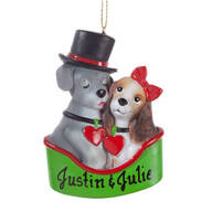 Personalized Puppy Couple Ornament