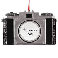 Personalized Camera Ornament