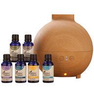 Healthful™ Naturals Essential Oil Starter Kit & 600 ml Diffuser