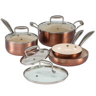 8 Piece Copper Cookware Set by The Home Marketplace
