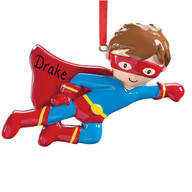 Personalized Superhero Ornament