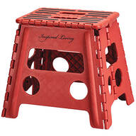 Red 13 Inch Folding Step Stool