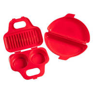 Microwavable Egg Poacher and Omelet Maker - Set of 2