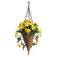 Fully Assembled Pansy Cone Basket by OakRidge™