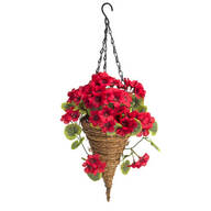 Fully Assembled Geranium Cone Basket by OakRidge™