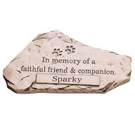 Personalized Faithful Friend and Companion Memorial Stone