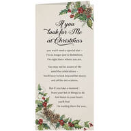 Personalized Looking for Jesus Christmas Card Set of 20