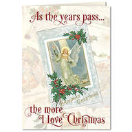 Personalized The More I Love Christmas Card Set of 20