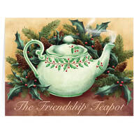 Personalized Friendship Teapot Christmas Card Set of 20
