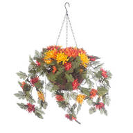 Fully Assembled Hanging Mum Basket by Oakridge Outdoor™
