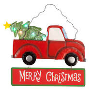 Lighted Merry Christmas Truck Sign by Fox River Creations™
